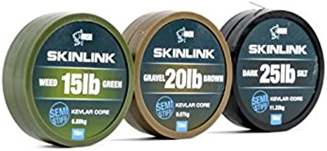Nash Combilink Coated Braid hooklink Silt 20m 15lb