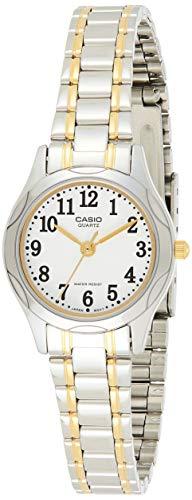CASIO 19281 LTP-1275SG-7B - Reloj Señora Cuarzo Brazalete metálico dial Blanco