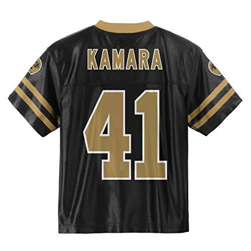 Outerstuff Alvin Kamara New Orleans Saints #41 Black Youth Home Player Jersey (Large 14/16)