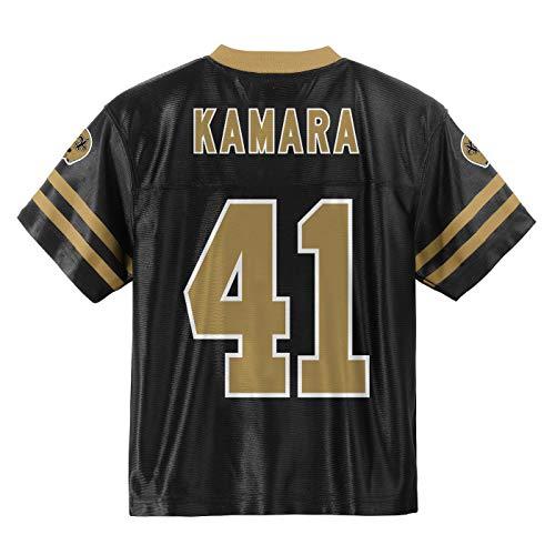 Outerstuff Alvin Kamara New Orleans Saints #41 Black Youth Home Player Jersey (Medium 10/12)