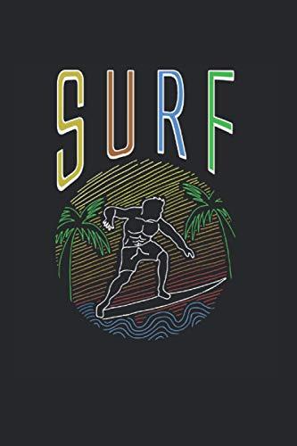 Surf: Surf Surfbrett Hawaii Grafik Strandurlaub Liebhaber Notizbuch DIN A5 120 Seiten für Notizen Zeichnungen Formeln | Organizer Schreibheft Planer Tagebuch