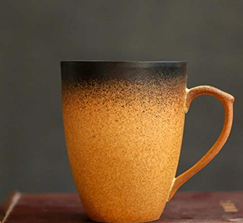 MugDisne qecdp* Teetassen Becher mit Deckel Löffel japanischen Stil Kunst japanische Tasse Keramik Retro-Stil Elegante Reim Kaffeetasse