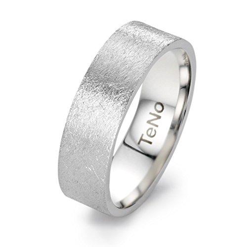 Fingerring Edelstahl, Marke: TeNo, Oberfläche: eismatt, Ringbreite: 7 mm, Zielgruppe: Twogether Grösse 54