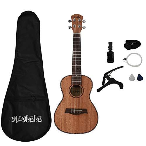 JVSISM Konzert Ukulele Kits 23 Zoll Mahagoni Uku 4 String Gitarre Mit Tasche Tuner Capo Gurt Sting Picks Für Anf?nger Musik Instrumente