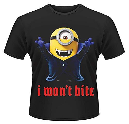 Minions (Ich - Einfach Unverbesserlich) - I Won't Biss - Offizielles Herren T-Shirt - Schwarz, Large