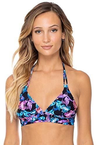 Swim Systems Women's Standard Lovebirds Halter Bikini Top Swimsuit, Eden, Small