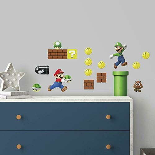 RoomMates Nintendo Super Mario Build A Scene Peel And Stick Wall Decals - RMK2351SCS, Multi