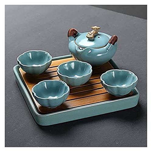 LBBZJM Conjunto de café Conjunto de té Conjuntos de té Kung Fu Juego de té Viaje Tetera Tetera Tetera Oficina Casa Cerámica Tea Bandeja (Color : C)