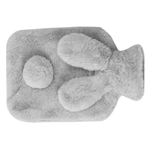 Qinghengyong Warm Entzückende Warmwasser PVCFlasche Hand Füße halten Plüsch Wärmetasche Hand warme Flasche Geburtstag FeiertagsWinterGeschenk