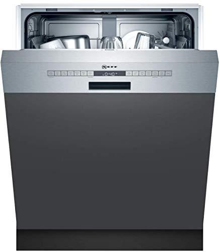 Neff S145HTS15E N 50 Teilintegrierter Geschirrspüler, 12 Maßgedecke, 60cm, Edelstahl