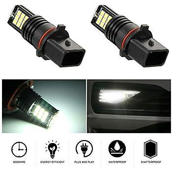 Riloer Lampadine LED per auto, 2PCS P13W 1200LM 6000K Lampadine