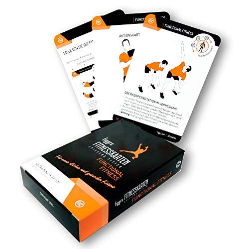 Figgrs Training Cards en alemán - Functional Fitness I 50 ejercicios de fitness para músculos potentes y dinámicos I Ejercicios de peso corporal sin equipo I Para hombres y mujeres