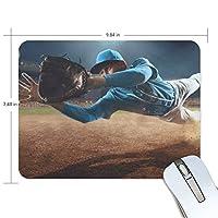マウスパッド かわいい 野球 スポーツ ボール 競技場 キャッチする 高級 ノート パソコン マウス パッド 柔らかい ゲーミング よく 滑る 便利 静音 携帯 手首 楽