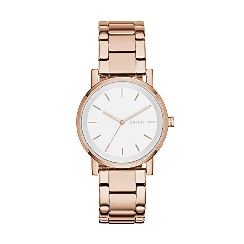 DKNY Reloj analogico para Mujer de Cuarzo con Correa en Acero Inoxidable NY2344