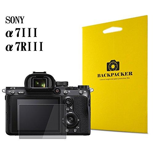 【BACKPACKER】 カメラ液晶保護ガラス 液晶プロテクター 0.33mm強化ガラス 9H硬度 高鮮明 SONY α7III / α7R...