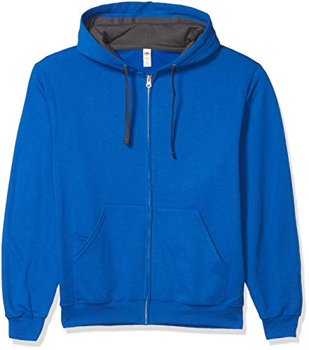Fruit of the Loom Men's Full-Zip Hooded Sweatshirt, Royal, Small