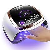 UV LED Nail Lamp, Gugusure 168W Nail Curing Lamps for Home & Salon, Led Nail Dryer for Gel Polish...