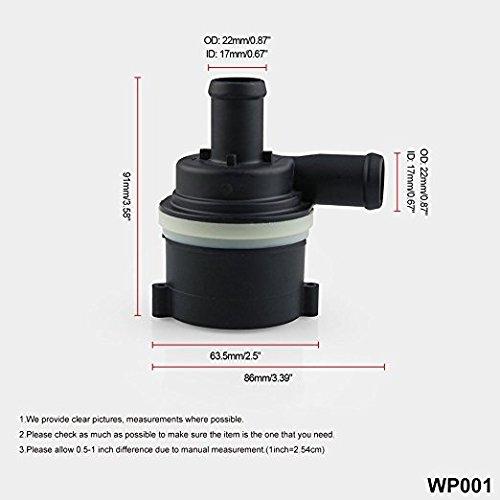 Yiwa waterpomp, elektrisch, toevoeging, koelvloeistof voor auto, voor Audi A4 A5 A6 A7 / VW Touareg