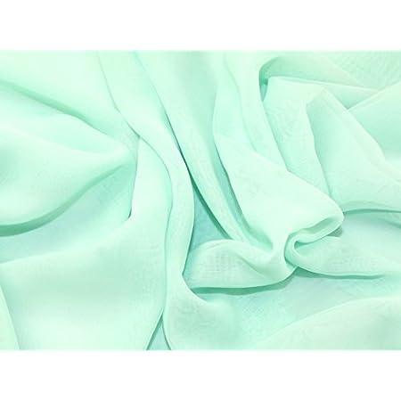 Printed Chiffon Fabric Sold per metre Blue