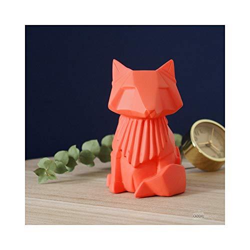 Mini veilleuse lampe renard origami orange pour chambre d'enfants - House of Disaster - LEDFOXOR