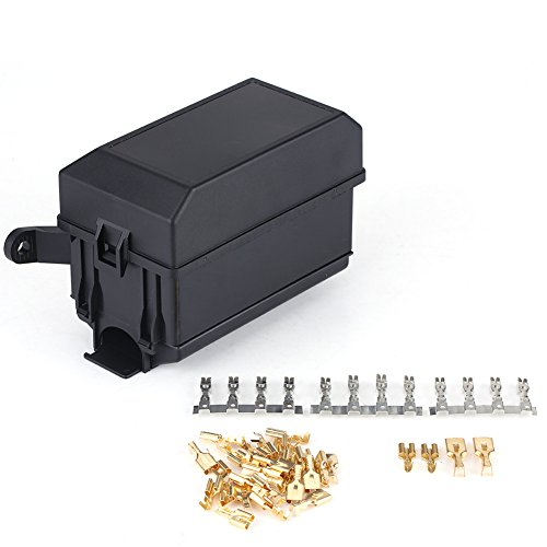 Qiilu 6 vías Fuse Relay Holder caja de enchufe para coche SUV camioneta off-road