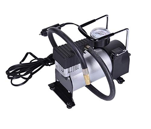 Auto luchtcompressor met manometer 12V DC perslucht pomp minicompressor 100psi compressor draagbare luchtcompressor hoogwaardige bandenpomp personenauto bus van auto fiets motor
