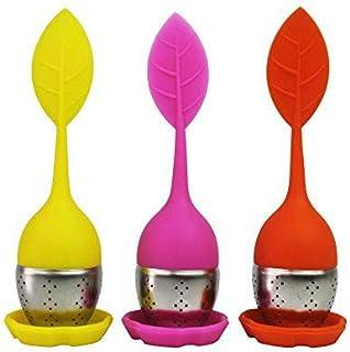 Infusores de Té de Silicona Filtros para Té de Acero Inoxidable y Silicona, Set de 3