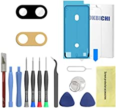 OKBICHI Back Camera Lens Glass Replacement for iPhone 7 Plus and iPhone 8 Plus - Repair Tools with Screen Protector