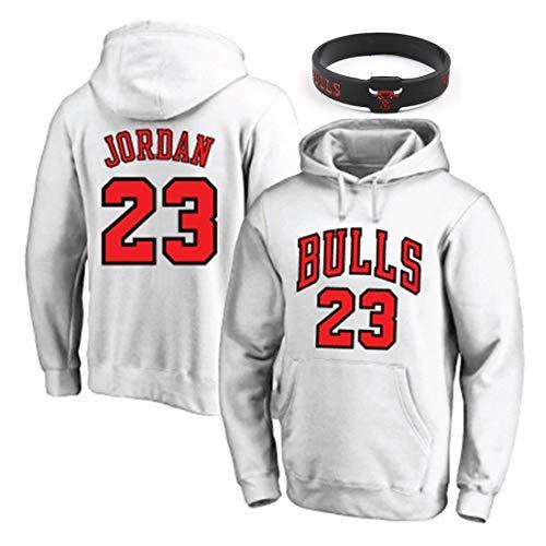 YUUY Sudadera con Capucha para Hombre Michael Jordan # 23 Chicago Bulls Sudadera con Capucha de Baloncesto para Hombres y Mujeres - Camiseta Holgada con Capucha de Baloncesto