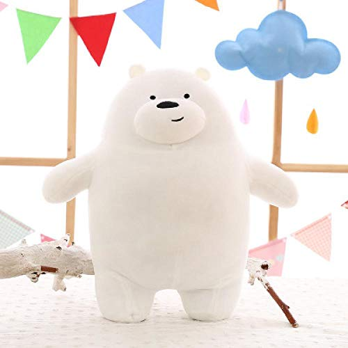 FINIMY Osos Panda de Peluche de Juguete de Dibujos Animados Oso de Peluche grisáceo Blanco Oso Panda muñeca niños cumpleaños GIF Blanco
