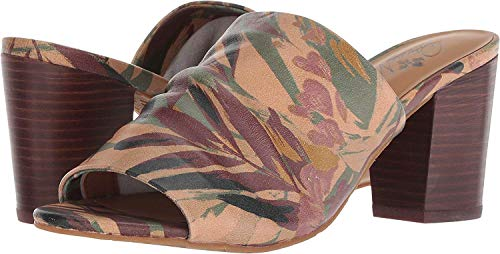 Patricia Nash Womens Poema Leather Open Toe Casual Mule, Palm Leaves, Size 8.5