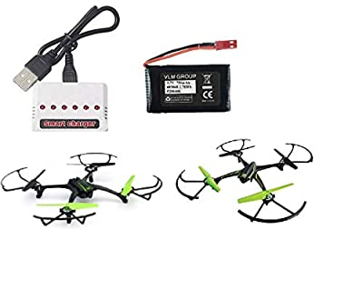 Sky Viper Drone Compatible 750mAh Battery and Smart USB Charger. It Works for Sky Viper Stunt Copter, Scout Furry Camera Drone X-Quad s670 Stunt v950HD/STR s1700/1750 v2400HD/FPV v2450FPV Hover Racer
