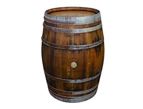 Temesso Stehtisch Tisch aus gebrauchtem Holzfass Weinfass, Fass, Barrique Tisch aus Eiche Holz rustikal 225 Liter (rustikal geölt)
