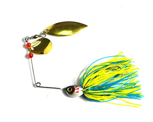 Senza Logo LIBAO-Lures, 20,5 g Spinnerbait Silicone Gonna Jig Cucchiaio Paillettes Gomma Jig Fishing Tackle Metal Fishing Lure Wobblers Fishing Hook 4