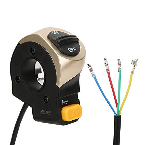 DAUERHAFT Accesorio de bocina de luz Conveniente Interruptor de bocina de lámpara de Scooter eléctrico, Adecuado para Bicicleta eléctrica de Scooter eléctrico