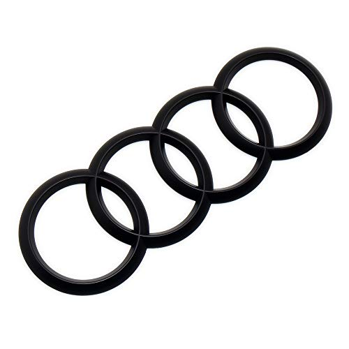 US85 Direct Universal for Audi Sport 3DTrunk Ring Luggage Lid Adhesive Logo Sign Fit A3 S3 RS3 A4 A5 S4 S5 RS5 Emblem Badge Sticker Decoration Quattro Accessories (Matte Black)