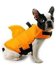 qingqingxiaowu Chaleco Salvavidas Perro Pequeño Chalecos Salvavidas para Perros Dog Life Vest Dog Coats Waterproof Dog Floatation Jacket Dog Swimming Vest Orange,XS
