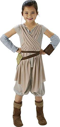 Rubie's Star Wars 7 Kinder Kostüm Rey Deluxe zu Karneval Fasching 7-8 J.