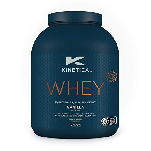 Kinetica Whey Protein Powder, 76 Servings, Vanilla, 2.27kg