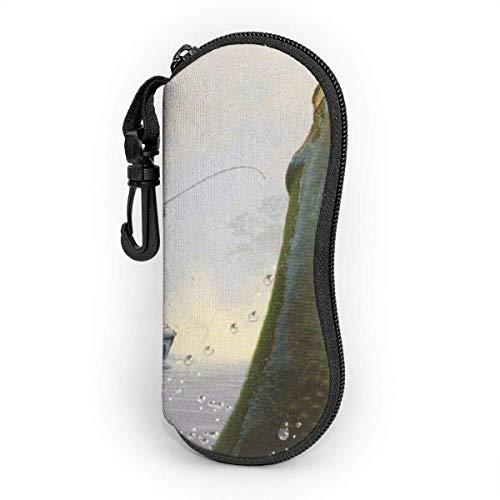 VimcustomPr Pesca impermeable y duradera gafas de sol caso portátil cremallera neopreno gafas almacenamiento caso con mosquetón