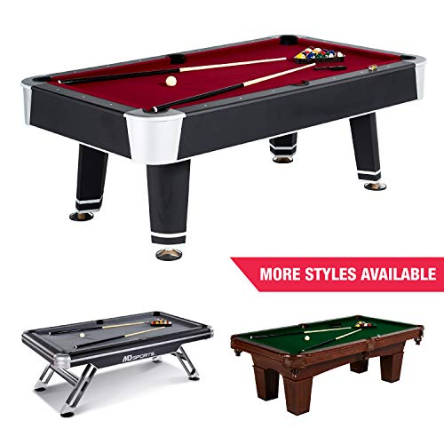 Standard Billiard Pool Table and Accessories, Full Set, 7.5' -...