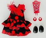 Folk Artesanía Vestido y complementos Regional típico Andaluza o Flamenca con peineta muñeca Barriguitas de Famosa. Muñeca no incluida en el Lote.