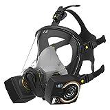 SolidWork Máscara facial completa S/M/L incl. filtro P3   Mascarilla con la menor resistencia a la respiración y un campo de visión perfecto   Máscara de gas protección contra gases, vapores