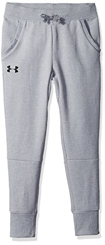 Under Armour Boys' Double Knit Tapered Pants, Steel Light Heather (035)/Black, Youth X-Large