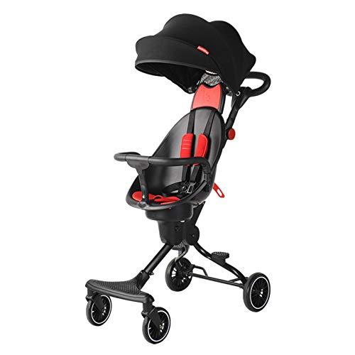 Bospyaf Two-Way Implementation of Baby Stroller V5 One-Key Collection of Baby Stroller High Landscape Stroller,F