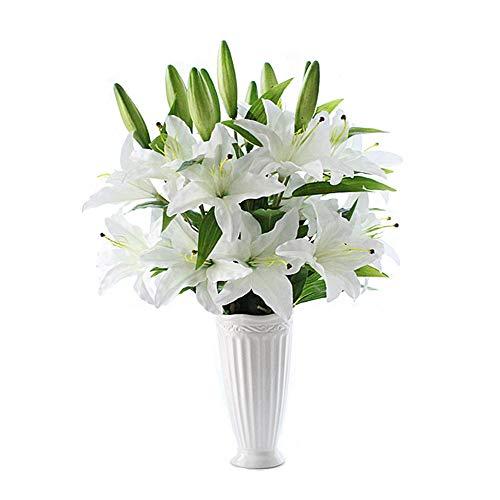 Wansan 5 Stück Künstliche Lilie Gefälschte Blume Hochzeit Decor Bouquet für Home Hotel Büro