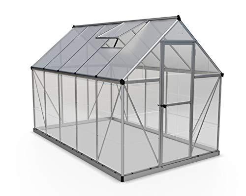 Palram HG5510 Hybrid Hobby Greenhouse, 6' x 10' x 7', Silver
