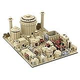 Myste MOC-56649 Custom - Bloques de construcción modulares 18 en 1 de la ciudad de Tatooine, construcción de maquetas, 9585 bloques de sujeción, modelo de arquitectura grande, compatible con casa Lego