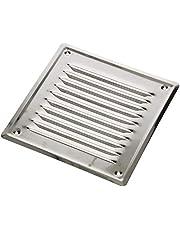 KOTARBAU® ventilatierooster 165 x 165 mm roestvrijstalen beluchtingsrooster voor ontluchting ventilatie zilverkleurig met insectenwerend rooster corrosiebestendig