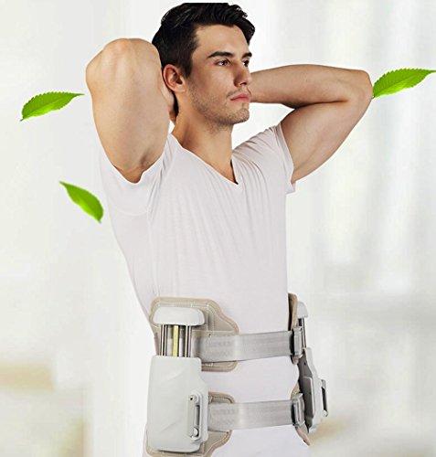 GxNI Espalda de soporte Cinturón ajustable Lumbar médico / Espalda inferior Cinturón Alivio del dolor Cómodo estenosis espinal transpirable |